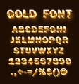 font 3d gold sign set template design element vector image