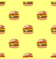 seamless pattern with hamburger or burger vector image