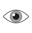 cute eye cartoon vector image
