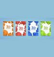 flyer 3d balls polygons cover color art vector image