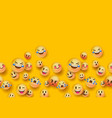 3d fun emoji icon seamless pattern background vector image vector image