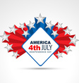 4th of july design vector image vector image