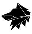 abstract low poly wolf icon vector image