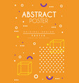 abstract poster orange bright placard template vector image vector image