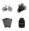 agriculture casino and other web icon in black vector image vector image