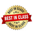 best in class round isolated gold badge vector image vector image