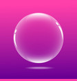 big bubble with pink color vector image vector image