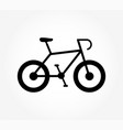 bike icon bicycle sign for bicycles isolated vector image vector image