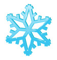 blue snowflake 3d symbol vector image vector image