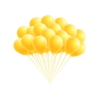 bunch birthday or party yellow balloons vector image vector image