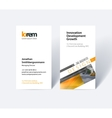business card template with rectangular vector image vector image