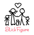 cartoon doodle stick figure with different pose vector image