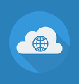 Cloud Computing Flat Icon Globe vector image