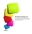 Colorful 3D rectangle background vector image vector image