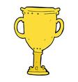 comic cartoon trophy vector image vector image