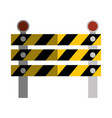 construction barrier isolated icon vector image vector image