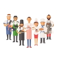 cooking chefs people vector image