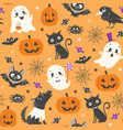 cute halloween pattern vector image vector image
