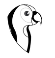 cute parrot pet icon vector image vector image