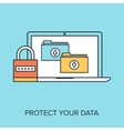 Data Protection vector image vector image