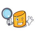 Detective rigatoni character cartoon style