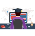 DISTANCE ONLINE EDUCATION vector image vector image