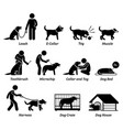 dog product equipment and tools icons set vector image