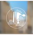 doha corniche - the symbol of qatar modern linear vector image vector image