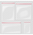 Empty Transparent Plastic Pocket Bags Blank vector image vector image