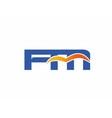 FM initial company logo vector image vector image