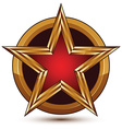 glorious glossy design element luxury 3d red star