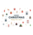 Greeting Christmas and Happy New Year Card with vector image vector image