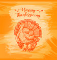 hand drawn sketch turkey natural turkey vector image vector image