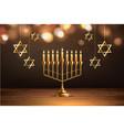 hanukkah jewish holiday menorah david star vector image vector image