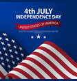 happy 4th july usa independence day with waving vector image vector image