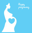 happy pregnancy pretty pregnant woman vector image