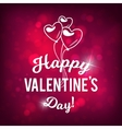 Happy Valentine s Day Bokeh Pink Background vector image vector image