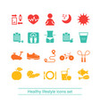 healthy lifestyle and sport icon set healthy vector image