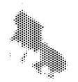 hex-tile skyros greek island map vector image vector image