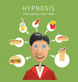 hypnosis man vector image vector image