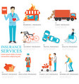 info graphic of business insurance services vector image