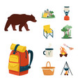 isolated object picnic and nature icon vector image vector image