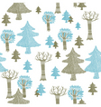 knitted Christmas icons vector image vector image