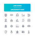 line icons set amusement park vector image