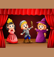 little kids theater performance vector image