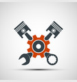 logo engine with plungers and a wrench vector image