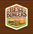 logo for best burgers vector image vector image