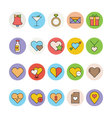 Love and Romance Colored Icons 1 vector image vector image
