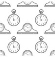 mantel clocks and pocket watch black and white vector image vector image