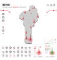 map benin epidemic and quarantine emergency vector image vector image